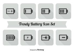 Batterie Icon Set vektor