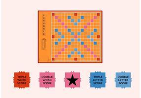 Scrabble Board Freier Fector vektor