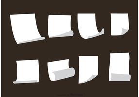 White Paper Sets Vektoren
