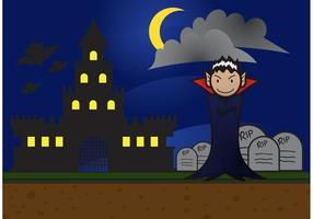 Dracula bakgrundsvektor vektor
