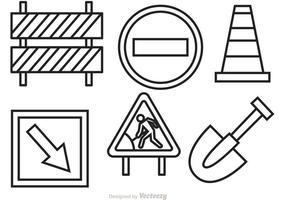 Im Bau Zeichen Vektoren