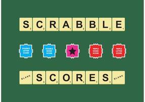Scrabble poäng vektor fri