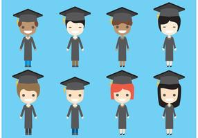 Graduate Vector Charaktere