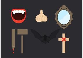 Dracula Elemente Vektor Set