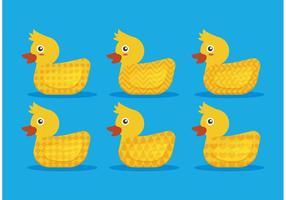 Mönstrade Gummi Duck Vectors
