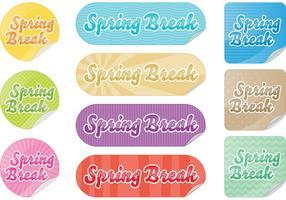Spring Break Aufkleber Vektoren