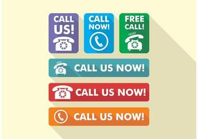 Rufen Sie uns jetzt Icons Vector Free