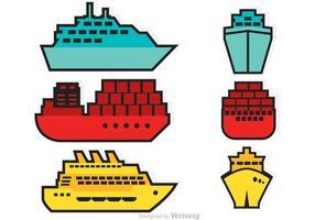 Vektor fartyg ikoner