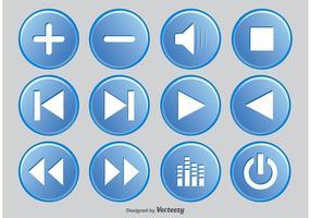 Media-Player-Taste gesetzt vektor
