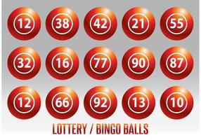 Lotterie / Bingo Ball Vektor Set