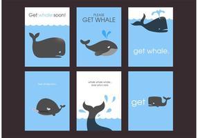 Erhalten Sie Whale bald Karten Freier Vektor