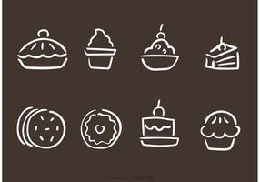 Handdragen bageri och bakverk vektorer