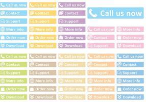 Web Service Button Vektoren