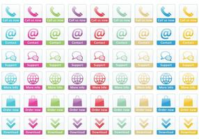 Ring oss nu Small Button Vectors