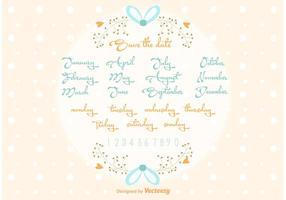 Vektor retten die Datums-Hochzeits-Beschriftung