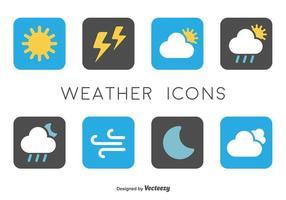 Minimal Wetter Icons vektor