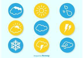 Wetter Flat Icons vektor