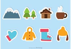 Vinter vektor ikoner
