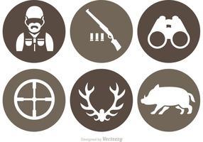 Jaktvektorns ikoner vektor