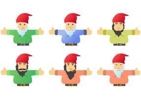 Gnome Charakter Vektoren