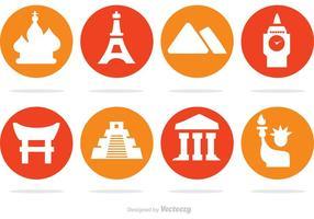 Wahrzeichen Vector Icons