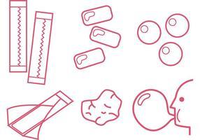 Bubblegum outline vektorer