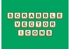 Scrabble skisserade vektorikoner