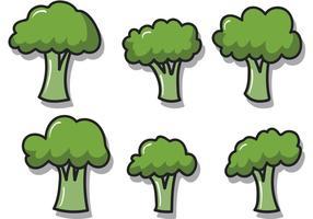 Broccoli isolerade vektorer