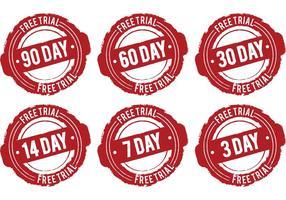 Day Free Trial Vektoren