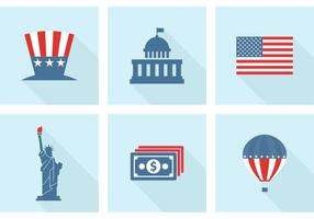 Kostenlose USA Vector Icons
