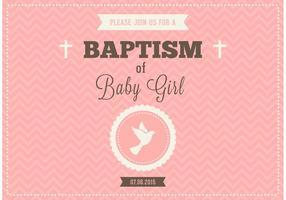 Gratis Baby Girl Dop Vector Invitation