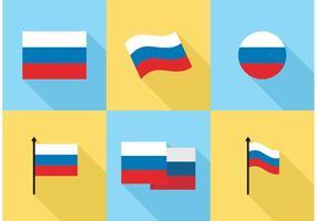 Ryska flagg ikoner vektor gratis