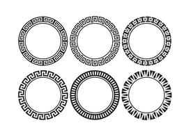 Dekorative Runde Rahmen Set vektor