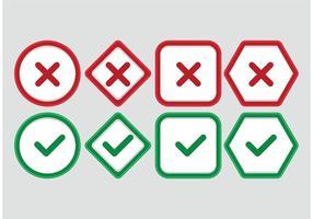 Korrekte falsche Vektorsymbole