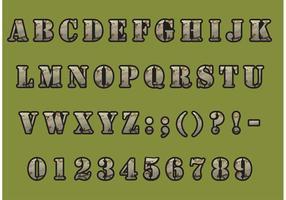 Camouflage Schriftart Vektor Pack