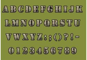 Kamouflage typsnitt vektor pack