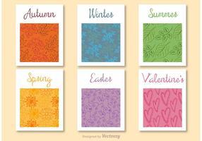 Jahreszeiten des Jahres dekorative Karten