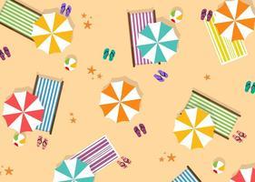 Sommer Strand Umbrella Vektor