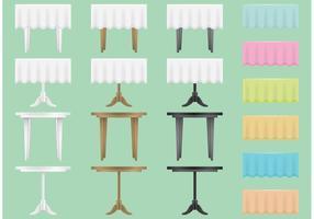 Bankett Tisch Vektoren