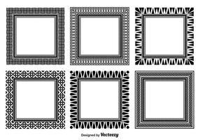 Assorterad dekorativ ramsats vektor