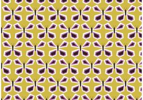 Retro Schmetterling Vektor Muster