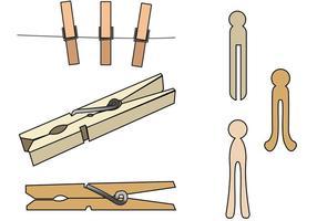 Clothespin-Vektoren vektor