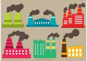 Rauchen Fabrik Vektor Set