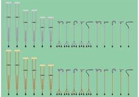 Stöcke und Krücken Vektoren