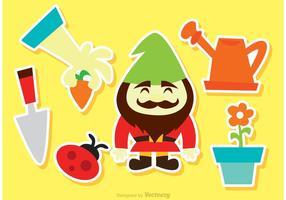 Spaß Gartenarbeit Vektor Icons