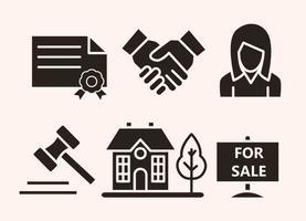 Immobilien Vektor Icons