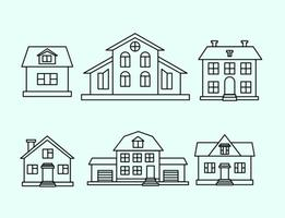 Vektor hus disposition set