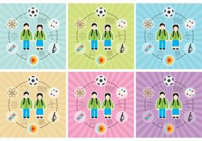 Kinder lernen Hintergrund Vektoren