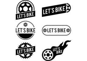 Låter cykelcykellogo vektorer