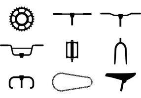 Fahrrad-Teil Vektor-Icons vektor